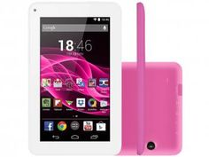 "Tablet Multilaser Supra 8GB Tela 7"" Wi-Fi - Android 4.4 Proc. Quad Core Câmera 2MP + Frontal"