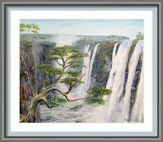 Victoria Falls Zimbabwe Framed Print by Wayne Enslow Artwork Prints, Framed Prints, Victoria Falls, Zimbabwe, Hanging Wire, Prints For Sale, Fine Art America, Waterfall, Acrylic Paintings