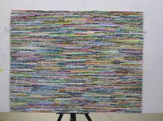 Paint Chip Strips Mosaic Art -  DIY Tutorial