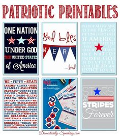For the Love of Red, White and Blue Patriotic Printables for the of July, Memorial Day Patriotic Party, Patriotic Crafts, Patriotic Decorations, July Crafts, 4th Of July Party, Fourth Of July, Kids Crafts, Wood Crafts, Project Life