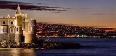 Chile's hottest tourist destination, Vina del Mar is a thriving city of restaurants, clubs, bars, shops, cinemas, and concerts, beaches for sun and surf, or explore the plaza for shopping and live entertainment. Municipal Casino or visit the cliffs for a glimpse of the seaside Wulff Castle.