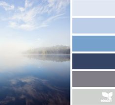 misty blues Color Palette by Design Seeds Colour Schemes, Color Combos, Color Patterns, Colour Palettes, Design Seeds, Deco Design, Color Swatches, Color Pallets, Color Theory