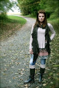Knitted jacket & tunic - Culture - underskirt from Cream