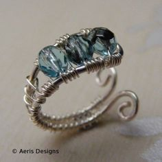 Wire wrapped ring by blue pachinco