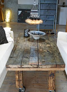 Déco Industrielle. Distressed Wood Coffee TableRustic ...