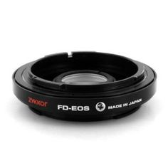 Zykkor Lens Mount Adapter for Canon FD/FL Lens to Canon EOS EF Body with Infinity Focus, made in Japan by Zykkor. $34.95. Product Features    Description  This adapter allow to use CANON FD mount lenses and macro accessories on Canon EOS cameras. The lens distance scale can be used as well as the focusing to infinity .The adapter has correction lens inside.