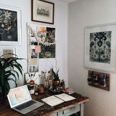 Decorative home office work space // home interior My New Room, My Room, Sweet Home, Room Goals, Home Living, House Rooms, Bedroom Decor, House Design, Interior Design