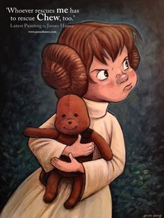 Disney Leia. The Rescuers + StarWars mash-up. <3