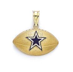 14K Gold Dallas Cowboys Football Pendant. See More...