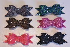 Glitter hair bows, obsessed.