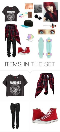 """""""Someone teach me to pennyboard ;-; //bta"""" by nikkithekiller ❤ liked on Polyvore featuring art"""