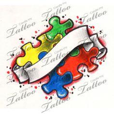 Autism tattoo design ideas 84 - We Otomotive Info Autism Awareness Tattoo, Autism Tattoos, Great Tattoos, Body Art Tattoos, New Tattoos, Female Tattoos, Tatoos, Create My Tattoo, Get A Tattoo