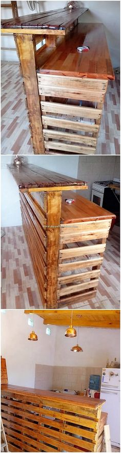 37 Ideas wood furniture design table recycled pallets for 2019 Wood Pallet Furniture, Bar Furniture, Furniture Design, Recycled Pallets, Wooden Pallets, Diy Pallet Projects, Wood Projects, Pallet Ideas, Unique Home Decor