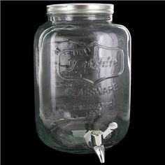 Serve your favorite drinks with this mason jar drink dispenser!