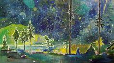 """Saatchi Online Artist: Tanja Vetter; Oil, Painting """"Verwunschener Ort"""""""
