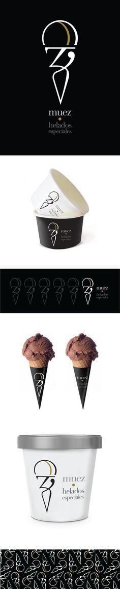 Muez por latte.com.mx #food #icecream #identity #graphicdesign #logo #mexico #branding #biblioteques_UVEG