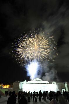 Fireworks Display at Asahikawa Winter Festival, Hokkaido.