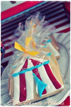 Cookies at a Circus Party #circus #partycookies