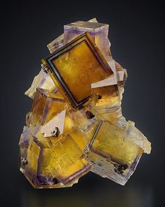 Minerals, Crystals & Fossils Fluorite with Chalcopyrite - Germany