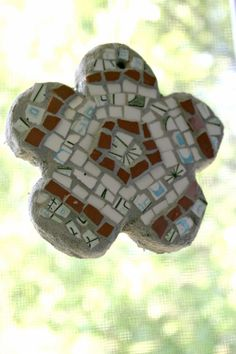 Mosaic Flower Wall Hanging - 4.5 inches