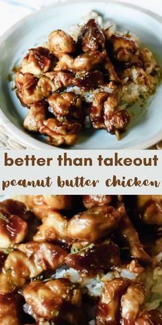 Better Than Takeout Peanut Butter Chicken - Your family will love this peanut butter chicken! It's quick and easy and full of flavor! Better than takeout! Peanut Butter Chicken, Peanut Butter Recipes, Peanut Chicken Recipe Chinese, Peanut Butter Sauce, Healthy Food Habits, Healthy Recipes, Asian Cooking, International Recipes, Food Dishes