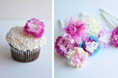 flower cupcake toppers are my fave (guest post from amy) - Cupcakes & More - flower cupcake toppers are my fave (guest post from amy) Best Picture For cupcakes For Your Taste - Mocha Cupcakes, Strawberry Cupcakes, Vanilla Cupcakes, Gourmet Cupcakes, Velvet Cupcakes, Cupcake Recipes, Easter Cupcakes, Flower Cupcakes, Christmas Cupcakes