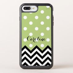 Custom Fun Black White Zigzag Polkadots Pattern Speck iPhone Case - black and white gifts unique special b&w style
