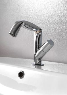 Fold | single handle washbasin mixer by @FlaminiaDesign chrome-plated single handle 1 hole washbasin mixer design Lorenzo Damiani, Fold line
