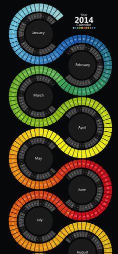Awesome Showcase of Creative 2014 Calendar Designs