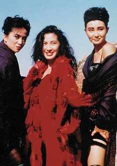 """Anita Mui, Michelle Yeoh and Maggie Cheung on the set of """"The Heroic Trio"""". 80s Movies, Action Movies, Anita Mui, Thunder Strike, Maggie Cheung, Michelle Yeoh, Ada Wong, The Enemy Within, Comic Book Collection"""