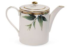 Bamboo Bone China Tea Pot