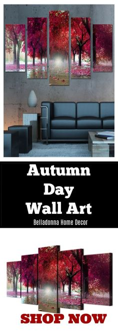 Subject: LandscapeMaterial: CanvasType: Canvas PrintingShape: IrregularFrame: With Frame Wall Canvas, Canvas Prints, Art Prints, Wall Art, Landscape Materials, Home Decor Shops, Frame Sizes, Autumn Day, Abstract Art