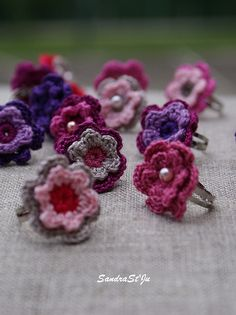 Crochet rings, would be cute for kids!