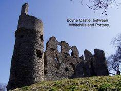 what is left of Boyne Castle in Scotland