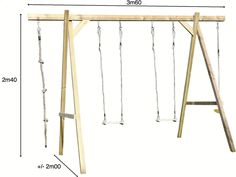 Afbeelding van BnB Wood houten schommel Tilff from DreamLand  159 euro zonder accesoires