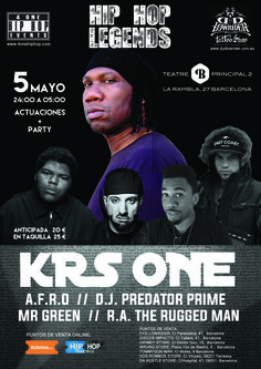 KRS ONE   AFRO  RA THE RUGGED MAN   MR GREEN en Barcelona