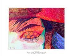Dreaming Love-Puntillismo Tinta China-FERNANDINI-50cmx35- PRECIO:500 dólares | Venta de Pinturas al óleo y acuarela de Patty Fernandini