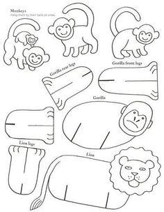 Templates bulk animals - Crafts with children | Detkipodelki