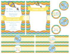 The Places You'll Go Party Pack  Chevron Stripe by BeccaLeePaperie, $25.00