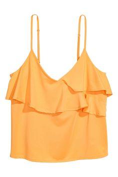 Top de tirantes con volantes - Naranja - MUJER | H&M ES