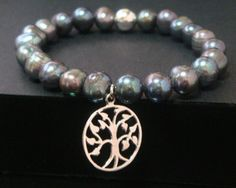 Tree of Life Bracelet with Tahitian Pearls and 925 Sterling Silver Tree of Life Pendant by MyTreeOfLifeJewelry on Etsy, $39.95 - #treeoflifejewelry #treeoflife #treeoflifebracelet #treeoflifenecklace #treeoflifependant #bracelet #pearls - also available at www.TreeOfLifeJewellery.com