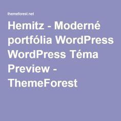 Hemitz - Moderné portfólia WordPress Téma Preview - ThemeForest