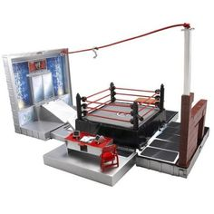 WWE Micro Aggression Playset with 4 Figures by Jakks. $90.32. Wrestling characters are less than 6 inches tall.. The only WWE kid's driven action figure assortment and playset filled with kid playable, in a collect-the-world scale! 20+'' ring with tremendous features! Includes entrance stage with blasting doors, catapult to ring, spring loaded top turnbuckle for running action, spring loaded top rope for jumping action, accessory chair and feature based break away accesso...