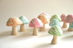OH MY G......Chocolate Filled Toadstools 7 Pastel by andiespecialtysweets, $42.00