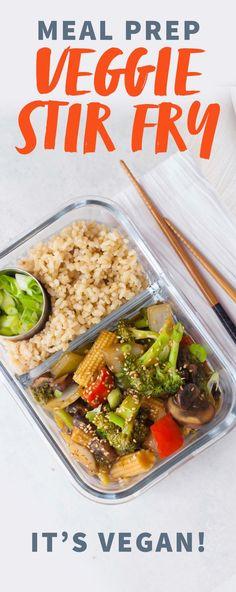 Meal Prep - Healthy Veggie Stir Fry