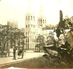 The San Sebastian Church in Manila. Circa 1900