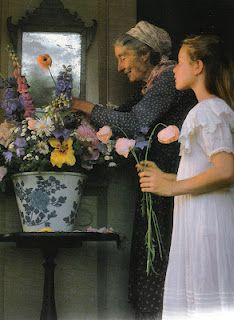 Natural flower arranging with Tasha Tudor