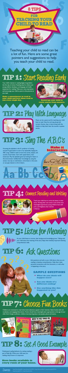 8 tips for teaching your child to read [infographic]