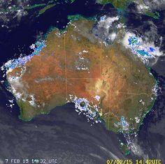 National Radar image:     15:28 UTC  Sat 07 Feb 2015