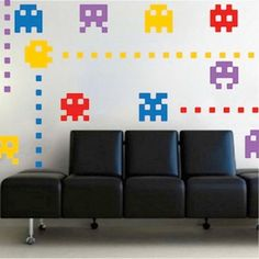 Atari Characters Wall Decals by TrendyWallDesigns on Etsy, $11.95